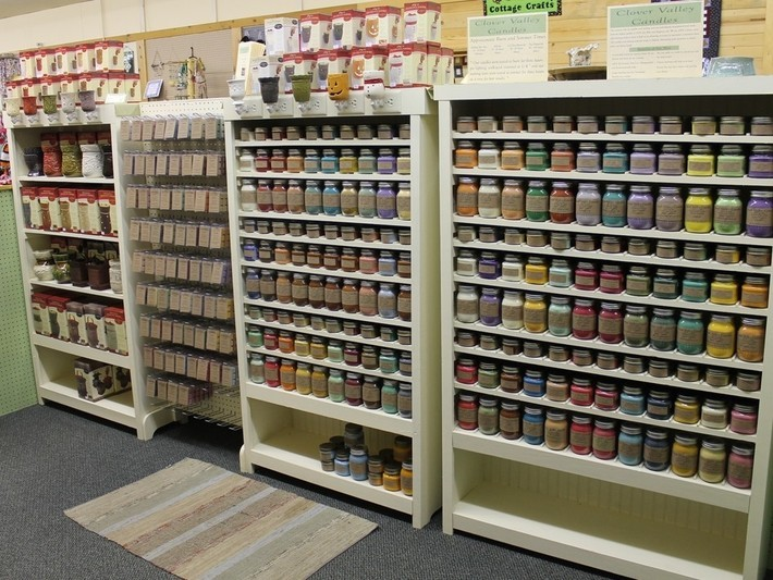 Our Store front at Sweet Peas Gifts and Crafts