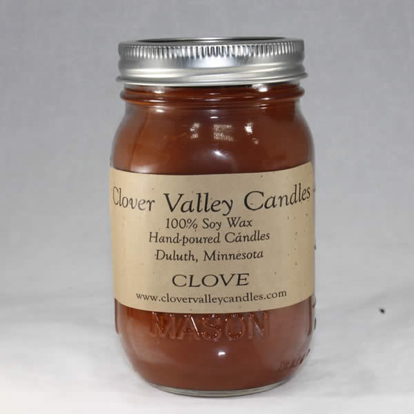Clove Pint soy wax candle by Clover Valley Candles