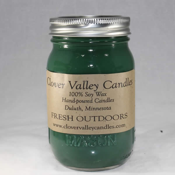 Fresh Outdoors Pint soy candle by Clover Valley Candles