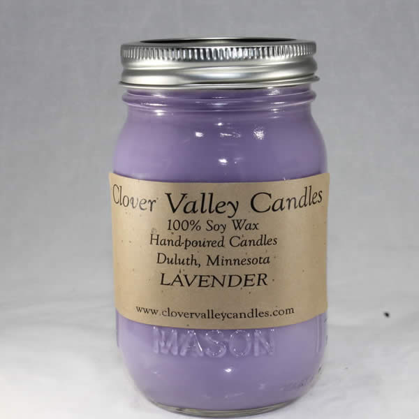 Lavender Pint soy wax candle by Clover Valley Candles