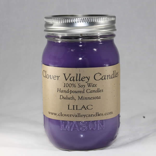 Lilac Pint soy wax candle by Clover Valley Candles
