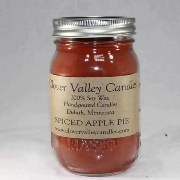 Spiced Apple Pie Pint soy wax candle by Clover Valley Candles